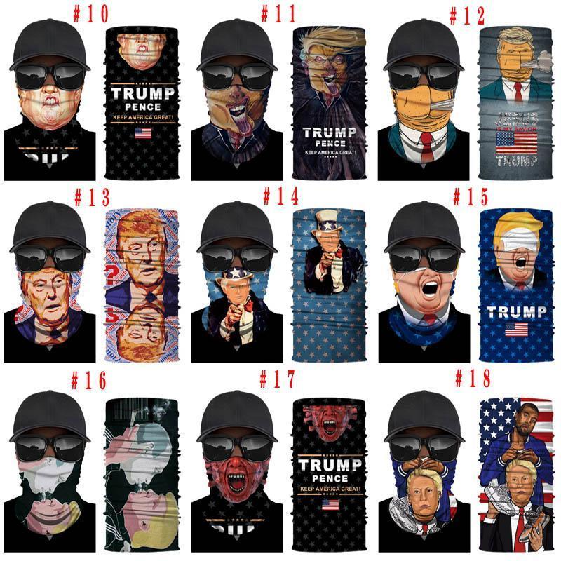 Trump Biden Cycling Mask Face Shield Bandanas Scarves American Flag Outdoor Balaclava Scarf Turban Sunscreen 2020 Election Riding Cap
