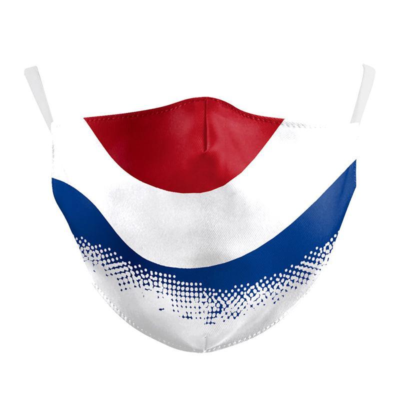 Milli Bayrak Desen Çocuklar moda yüzünün 3D dijital baskı PM2.5 filtre tasarımcı yüz maskeleri ile ayarlanabilir koruyucu maske toz maskesi