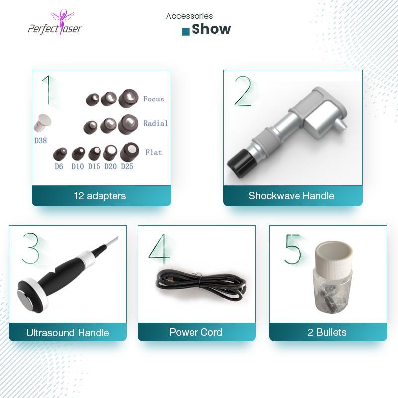 신제품 Ultrashock Shockwave 물리 치료 초음파 공압 충격파 장치 Expracorporeal Shockwave Therapy Machine