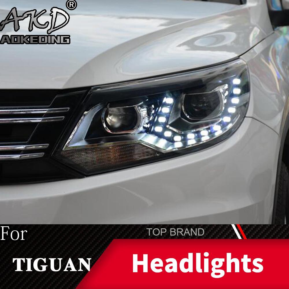 2021 Head Lamp For Car VW Tiguan 2013 2016 Headlights Fog ...