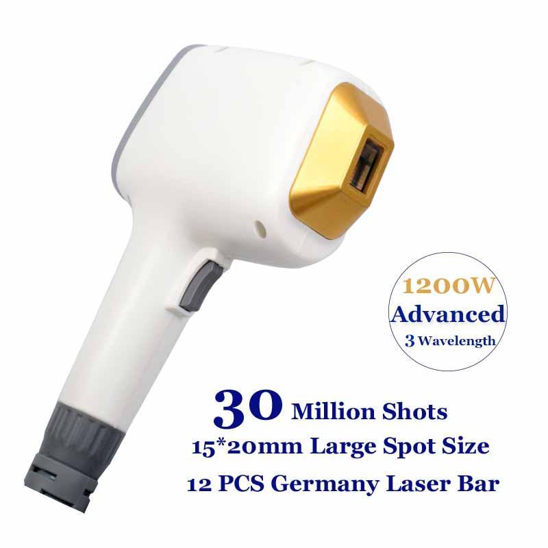 Diode Professionnel Laser Machine 3 Wavel Longueur d'onde 808nm 755nm 1064nm Trio Trio Déplacement de cheveux Alexandrite Equipement d'élimination des cheveux