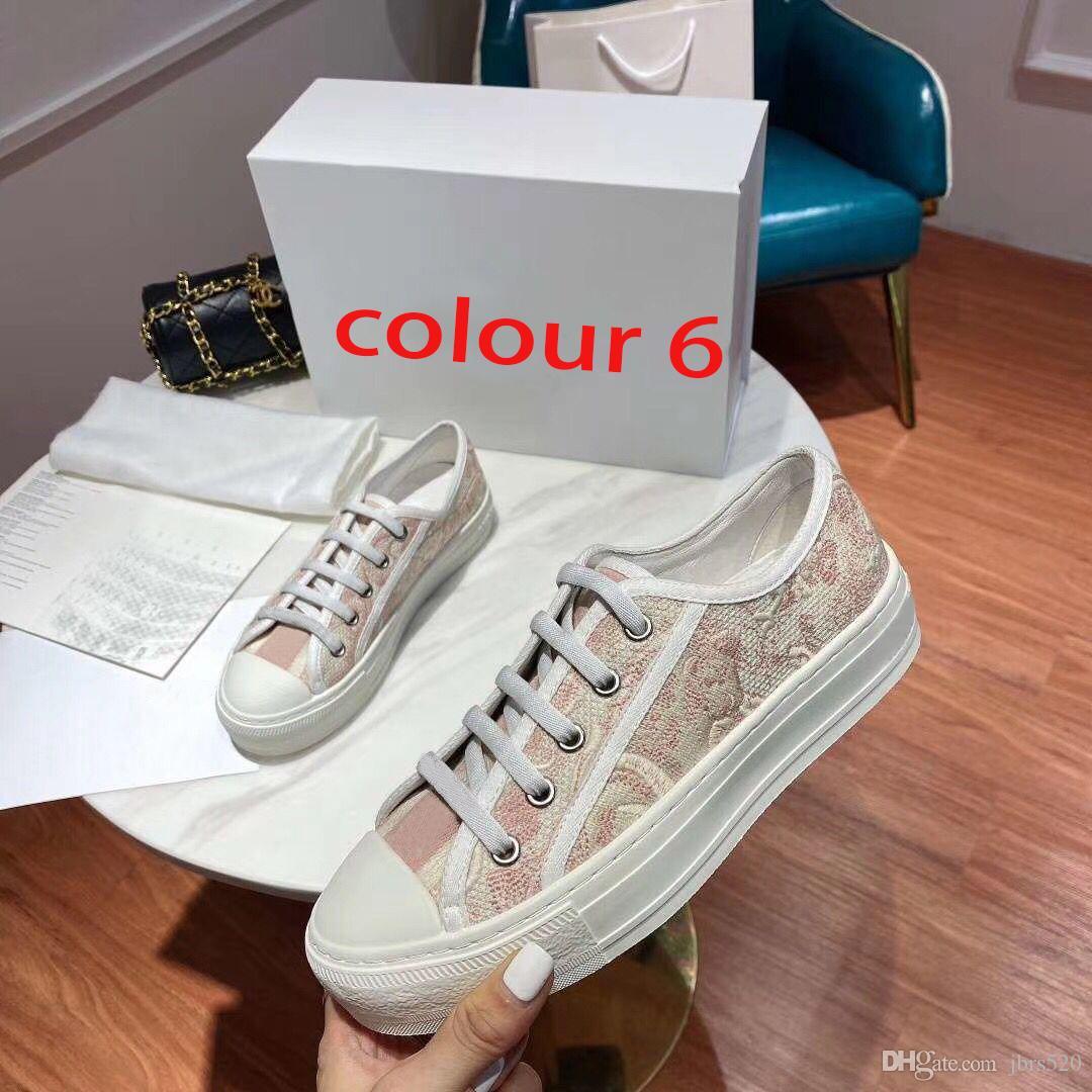 Designer senhora Plano calçados casuais plataforma couro sneaker Letters lace-up sapatos de mulher de luxo de moda novos sapatos masculinos impresso grande tamanho 4-42-44