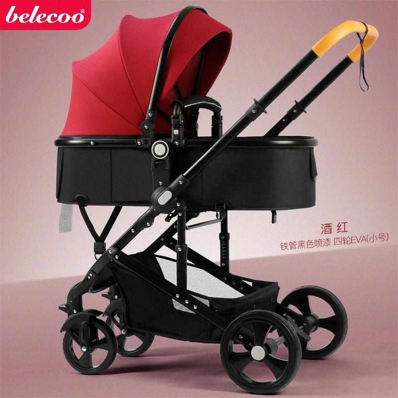 2020 3 In 1 Belecoo High Landscape Baby Stroller Can Sit ...