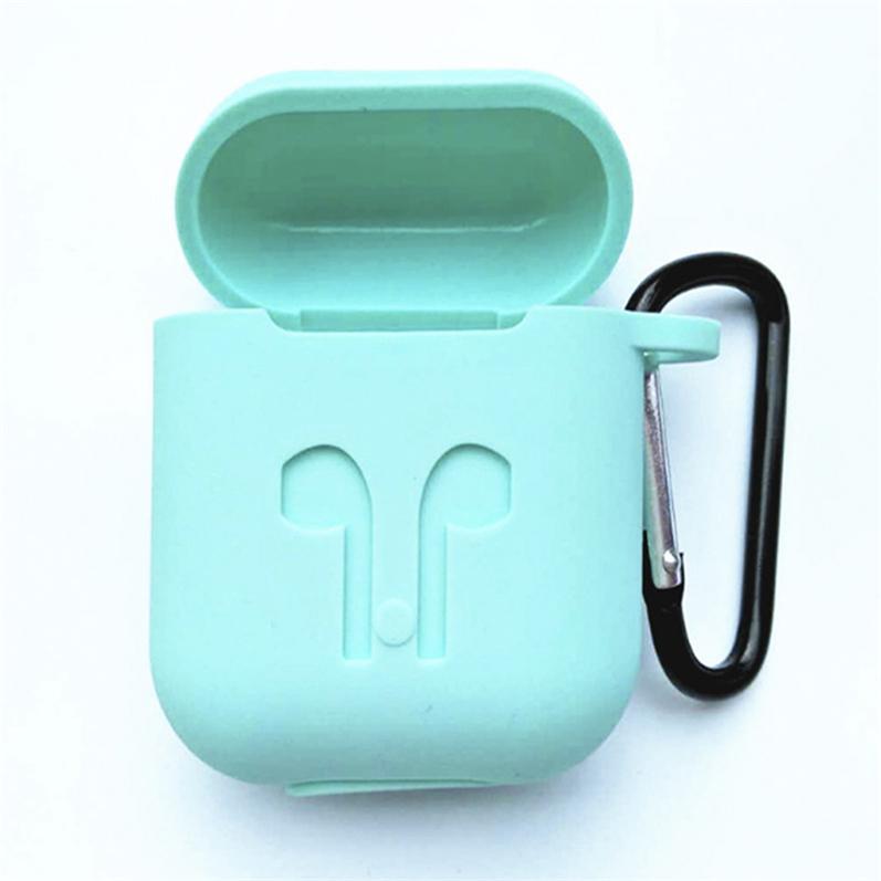 Для Apple Airpods Случаи Силиконовые Мягкий протектор ультра тонкий Airpod крышка Earpod Дело против падения с крюком Retail Box На складе! 11