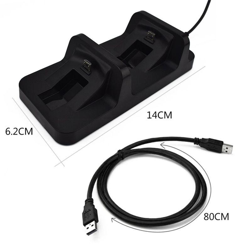 Commercio all'ingrosso Regolatore doppia maniglia PS4 controller wireless USB Dual Charging Dock Station stand il gioco del caricatore della staffa della culla