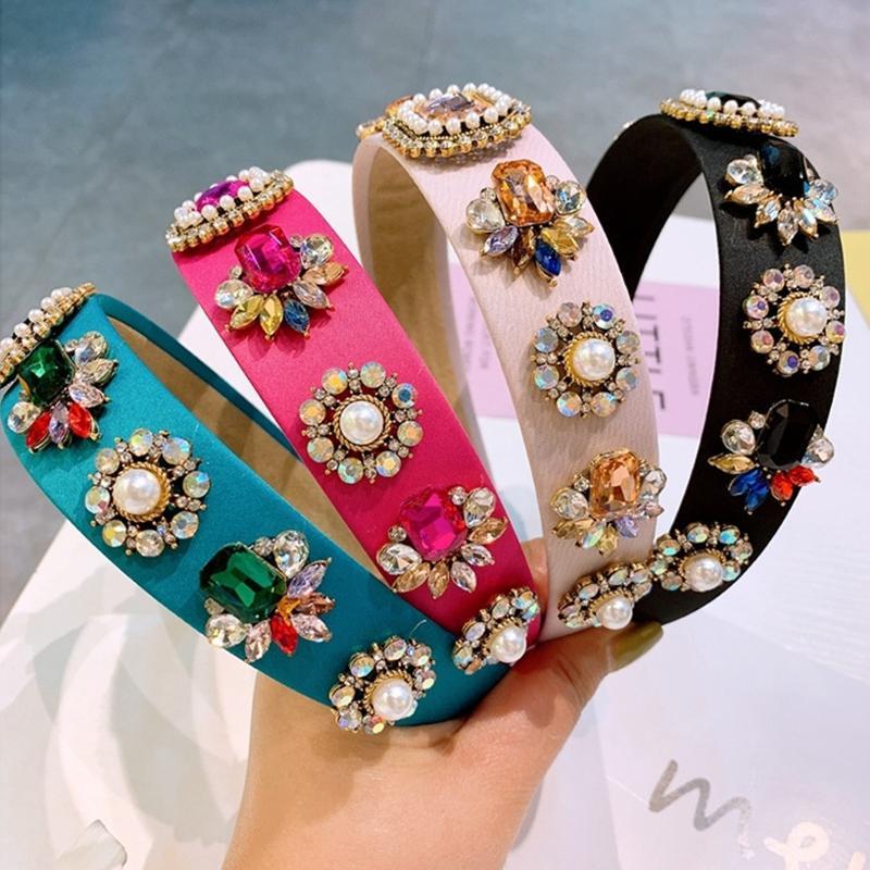 Simulierte Perle Bumble Biene Stirnbänder Frauen Haarschmuck Barock Vintage Kristall Haarband Weibliche Blume Perlen Kopfschmuck