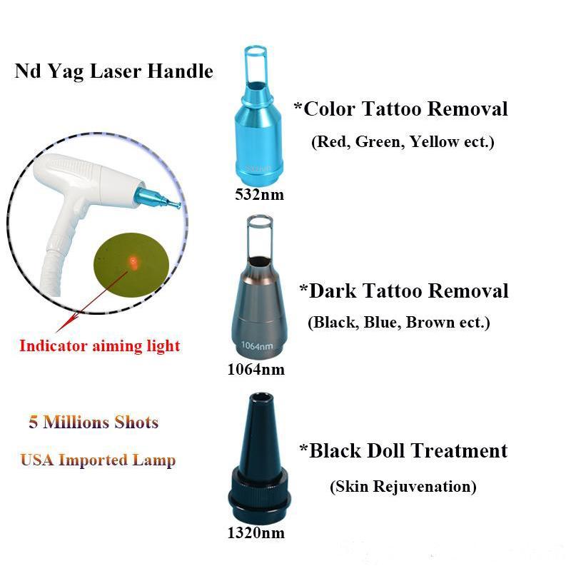 nd Laser Yag beauté peau Équipement nd prix de la machine laser Yag laser enlèvement machine à tatouer lumière Livraison gratuite