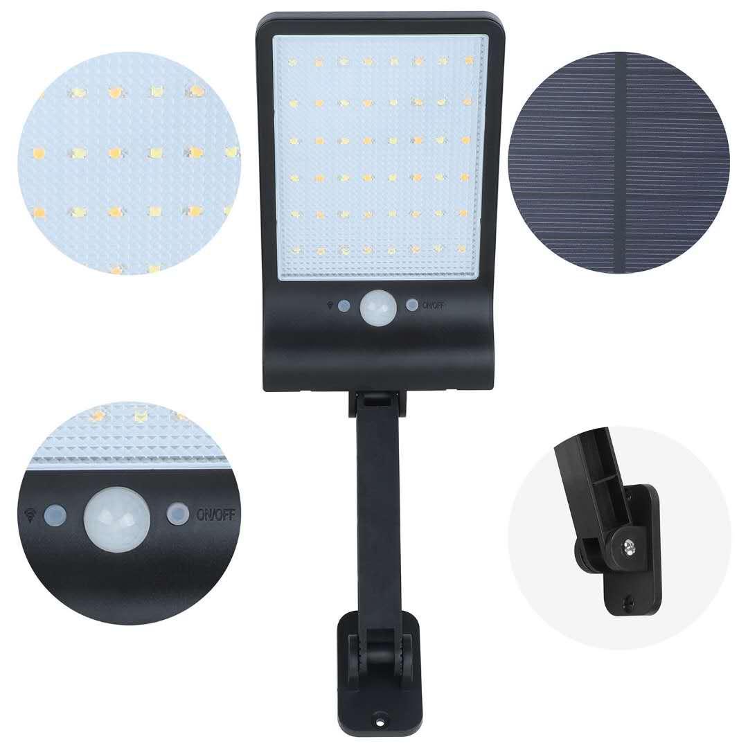 IP65 LED Lampada da giardino solare illuminazione esterna con telecomando Coontroller e sensore di movimento