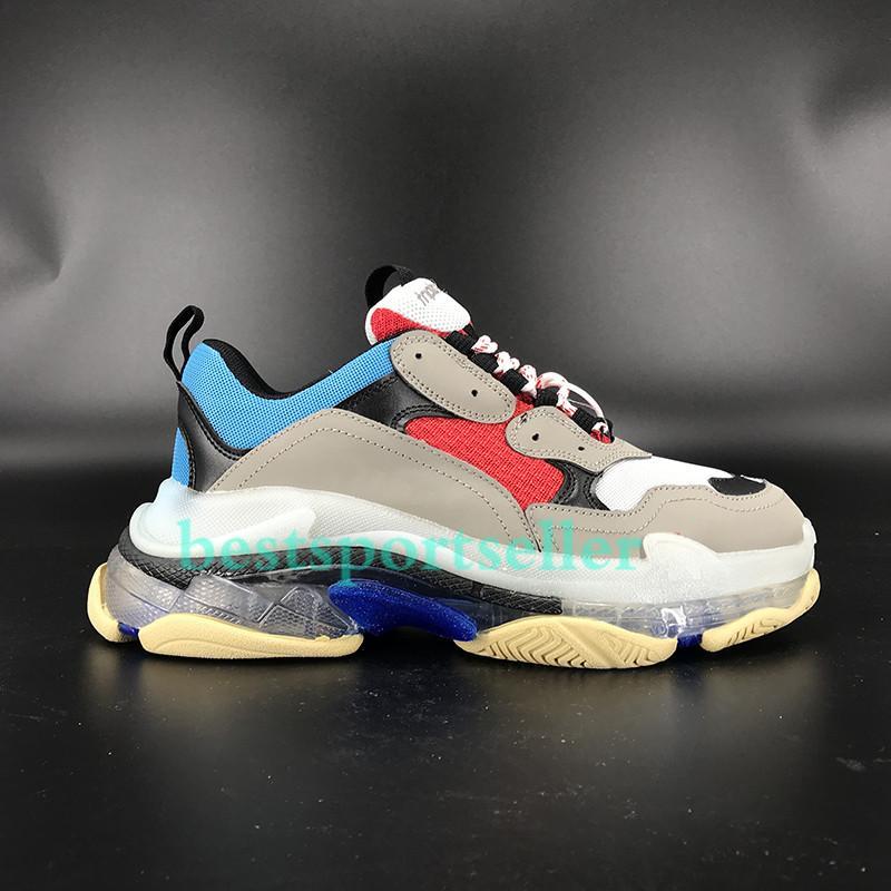 Komfort Paare Triple S Klare Sohle Plattform Schuhe Neon Grün Weiß Schwarz Gym Rot Blau Regenbogen Männer Frauen Turnschuhe