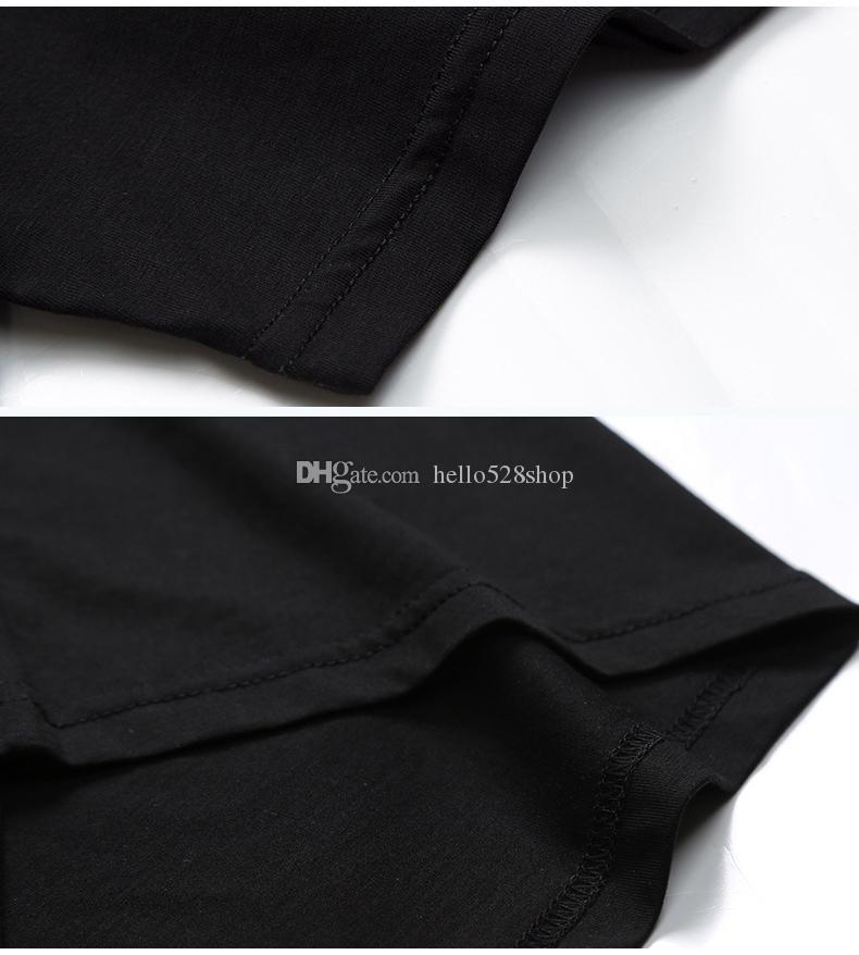 Erkek Yaz Kısa Kollu T Shirt Rhinestone Tasarımları ile - Crewneck Kazak Slim Fit Casual Tee Tops