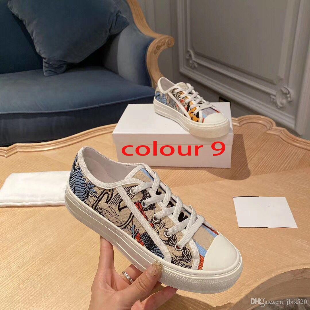 Mektupları spor ayakkabı tasarımcısı bayan Düz Casual ayakkabılar deri platformu bağcıklı lüks kadın ayakkabı moda yeni erkek Baskılı ayakkabılar Büyük boy 4-42-44