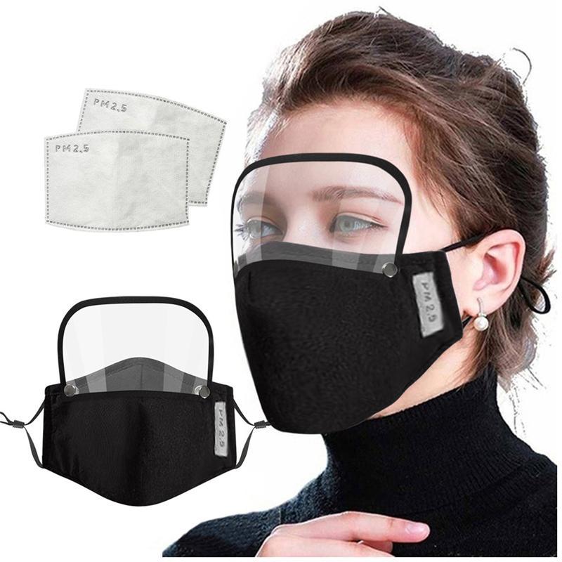2 В 1 Рот маска Съемный Eye Shield Face Mask Kids Valve Face Mask With Filter Pad Anti-пыли Пять видов цвета T3I51011