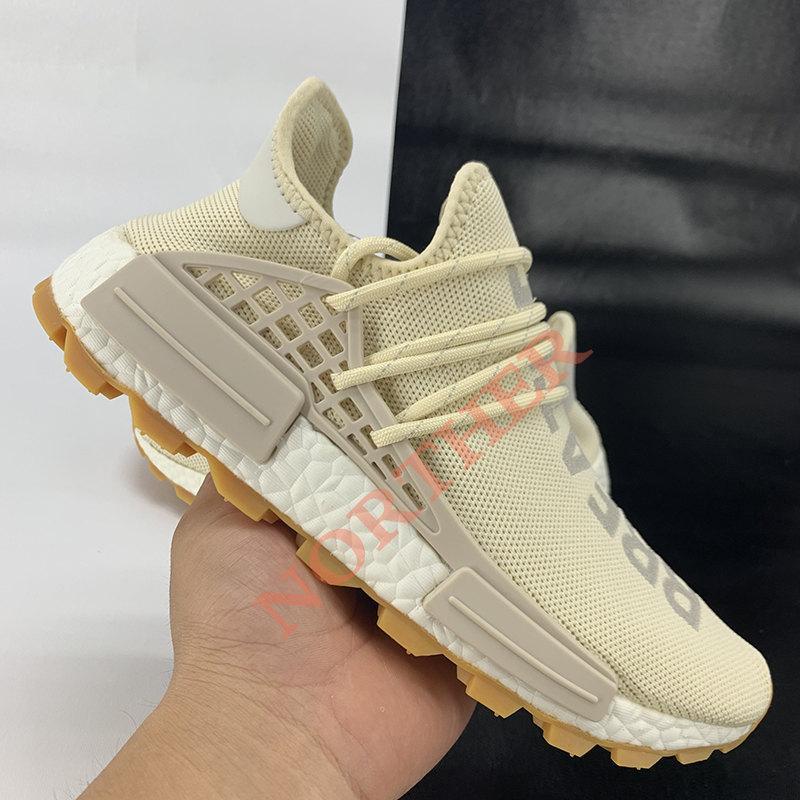 Con scatola NMD Human Race Pharrell Williams scarpe da corsa da uomo infinite specie Solar Pack R1 V2 triple bianco arancio blu uomo donna Sneakers