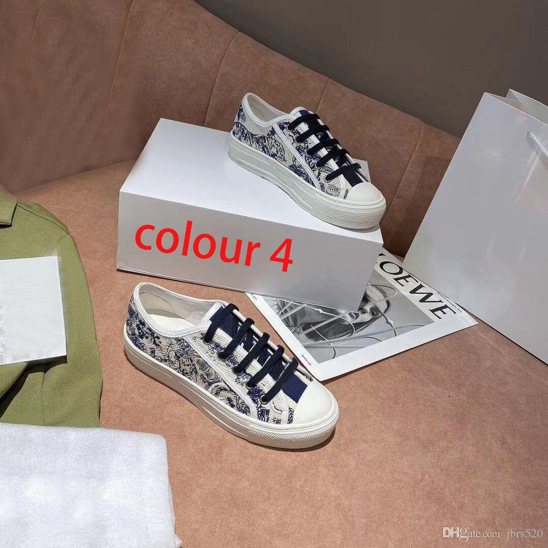 concepteur dame chaussures plates en cuir Casual plateforme baskets lettres lacets femme chaussures luxe mode hommes nouveaux imprimés chaussures grande taille 4-42-44