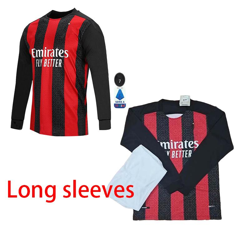 2021 20 21 Long Sleeves AC Milan Soccer Jersey 2020 ...