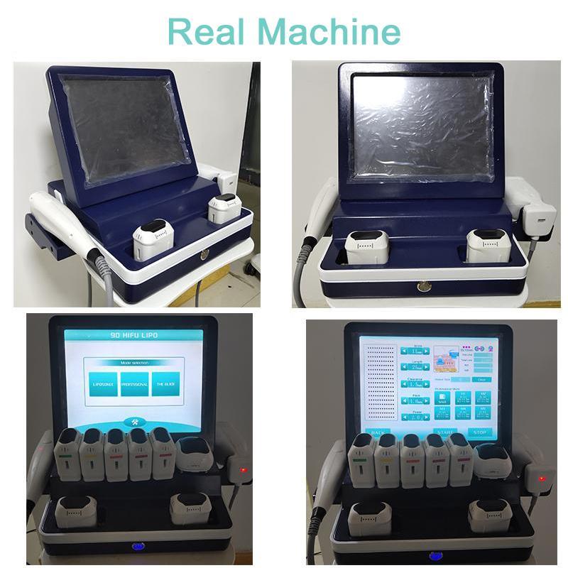 HIFU máquina de emagrecimento corpo LipoSonix Peso reduzir 2 em 1 LipoSonix rosto HIFU e pele do corpo apertar o transporte livre máquina CE / DHL