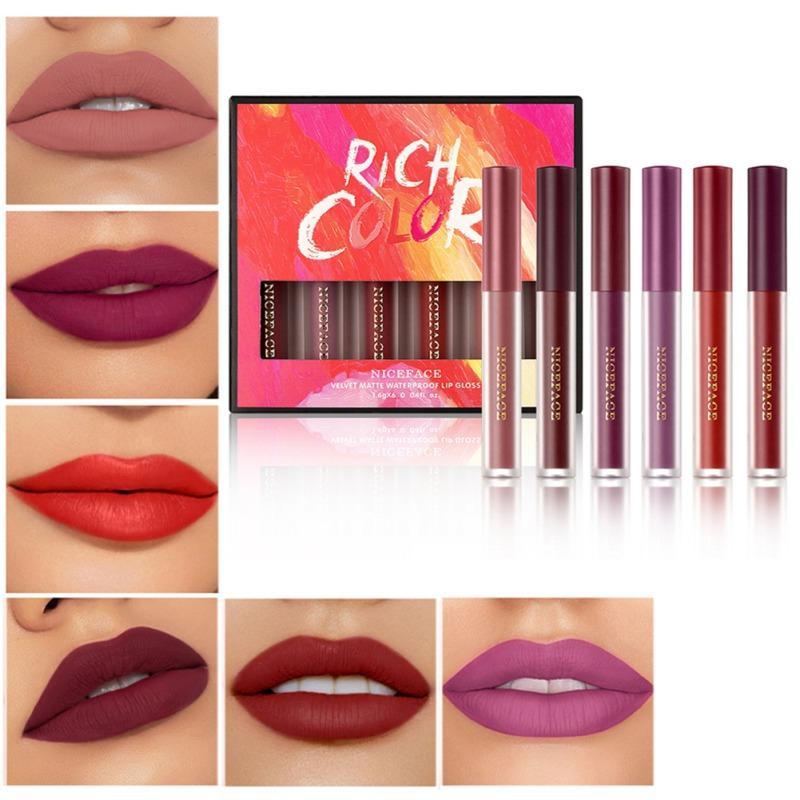 1pc 16color Nude Matte lipstick Matte Velvet Lipstick