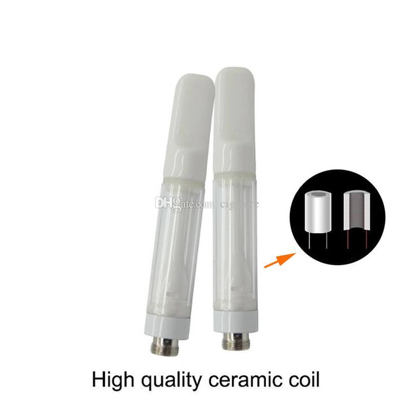 Нажмите на тележках цельнокерамические Одноразовые картриджи 0.5G 1g 510 Thread Vapor ручки PK TH2 M6T G5 распылители