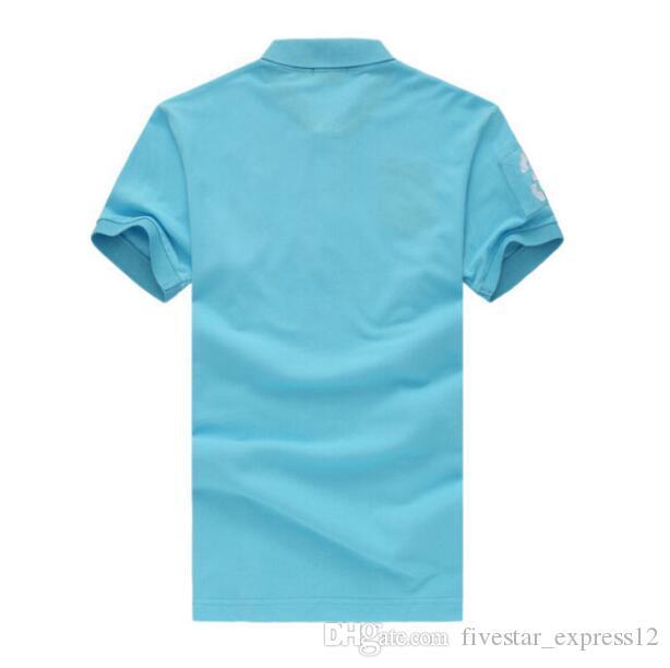 American Casual Polos Big Poty Bordado de alta calidad Hombres de algodón de alta calidad Camisa de polos corto Slesteve Camisass Numssbers Masculino camisetas Yellows
