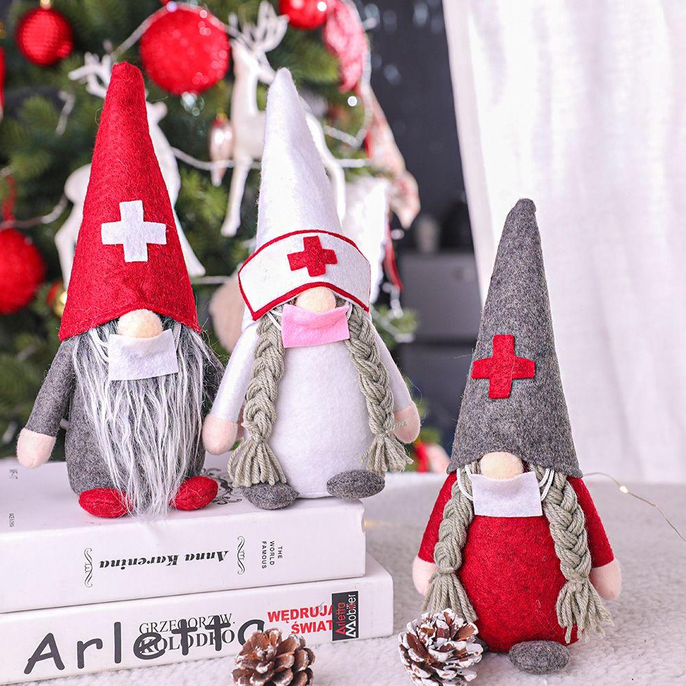 2020 الحجر الصحي دمى عيد الميلاد الديكور الحلي هدية شخصية اسم العائلة حلية الوباء اللعب عيد الميلاد تزيين دي إتش إل الحرة
