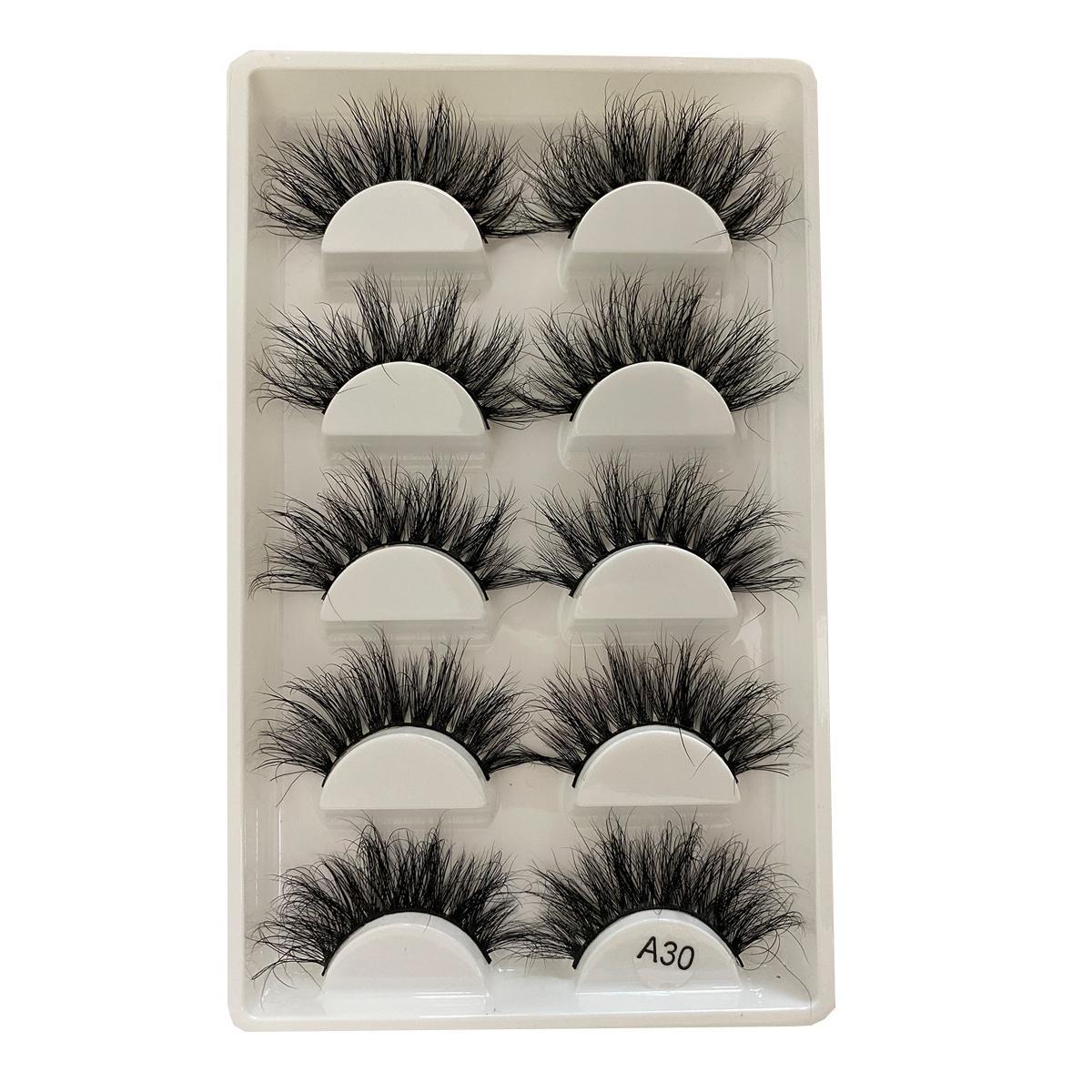 Mink Eyelashes Fluffy False Eyelashes Natural Handmade ...