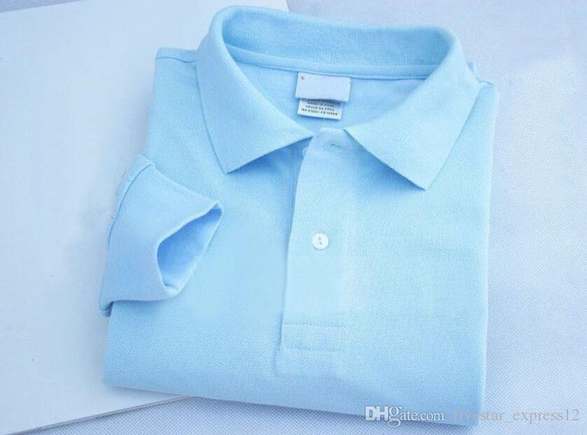 Hombres de invierno Camisas de polo sólido de alta calidad París París Moda Clásico Camisetas de manga larga Casual Polos sólidos Blanco negro azul
