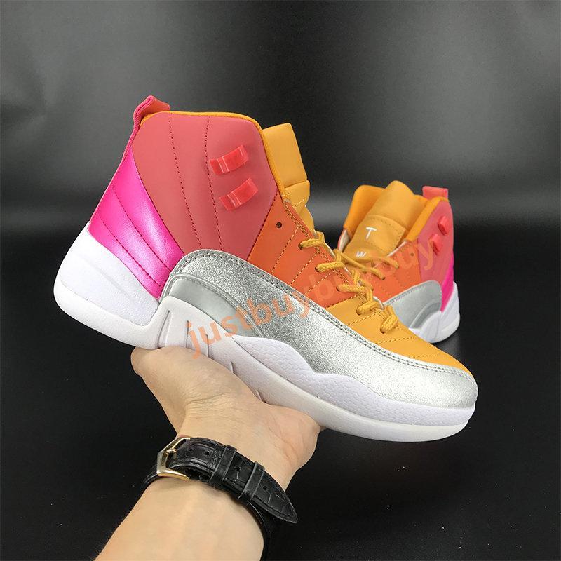 Yeni 12 12s Jumpman Erkekler Basketbol Ayakkabıları Siyah Koyu Concord Indigo Ters Grip oyunu Sunrise Bulls Beyaz Koyu Gri Fiba Erkek Sneakers Eğitmenler