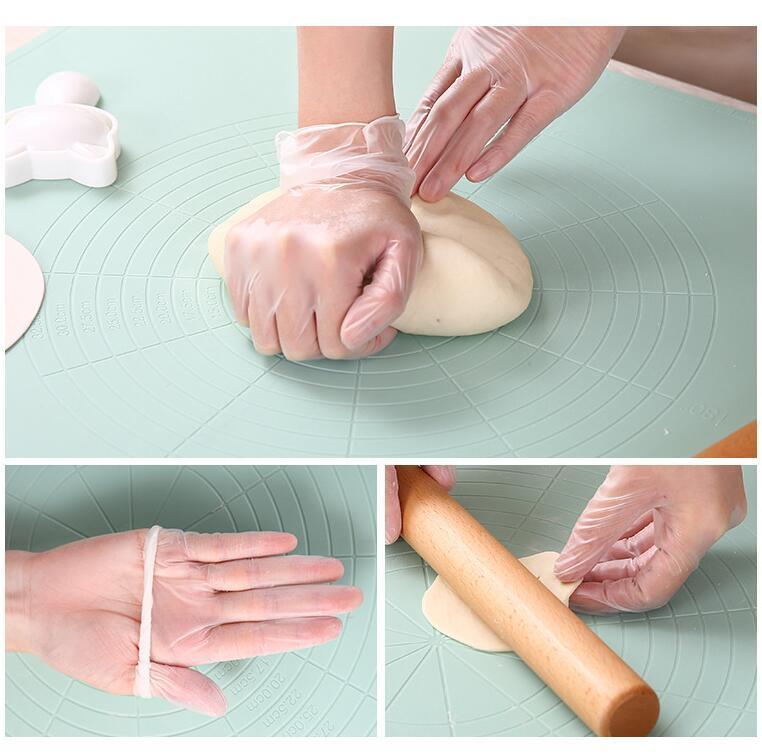 In Stock Tek kullanımlık eldiven Şeffaf PVC Eldiven Mutfak Bulaşık Nitril Eldiven Ev Temizlik Eldiven Toz Ücretsiz Eldiven DHL Ücretsiz Kargo