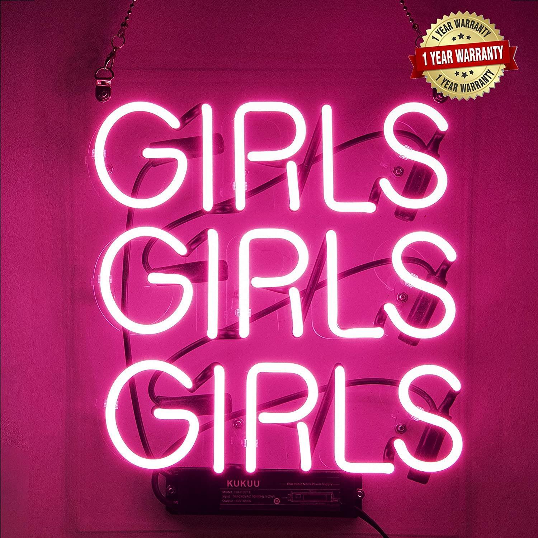 2021 Neon Signs Girl Girls Neon Wall Decor Light Sign Led ...