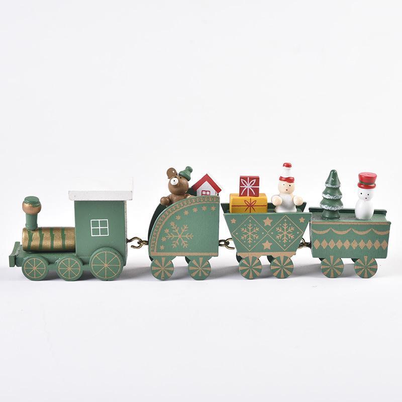 Nachrichten Weihnachtsschmuck aus Holz Zug DIY Montage Schaufensterauslage Kinder Weihnachtsgeschenk Weihnachten Spielzeug T3I51249