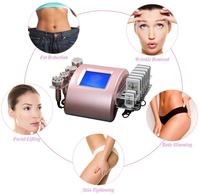 2 Years warranty ultrasonic cavitation fat slimming machine lipo laser weight loss radio frequency skin tightening beauty equipment 5 heads