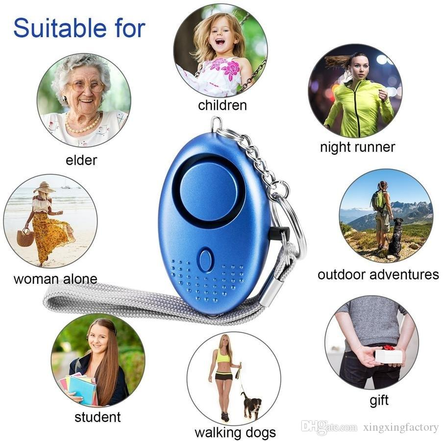 130db Egg Shape Self Defense Alarm Girl Women Security Protect Alert Personal Safety Scream Loud Keychain Alarm systems