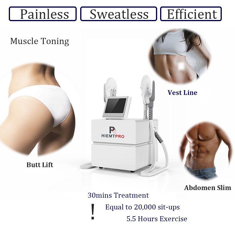 2021 Dernière machine EMSLIM HI-EMT EMS Stimulation de muscle électromagnétique Stimulation de la graisse Formation de brûlage Hiemt EMS Equipement de beauté