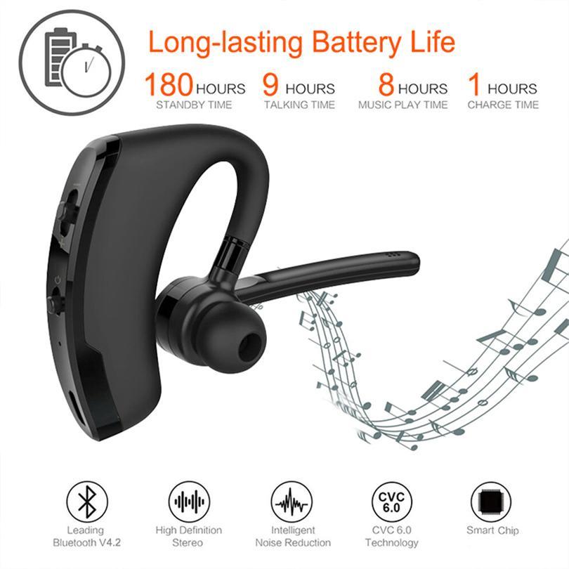 V8 TWS Auriculares Bluetooth Auriculares CSR Business Estéreo Auricular con micrófono Voz inalámbrica para iPhone 12 Mini 11 XS Max Fast entrega