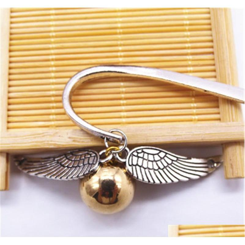 gold best gift for reader snitch harry bookmark charm bookmark - harry potter bookmark gift