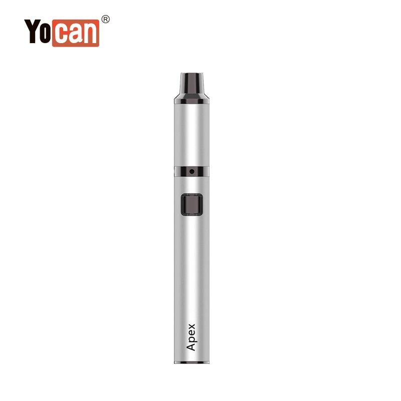 Authentic Yocan Apex Kit Heating in Waves Wax Vaporizer Electronic Cigarette Kit 650mAh VV Battery Portable Concentrate Vape Pen