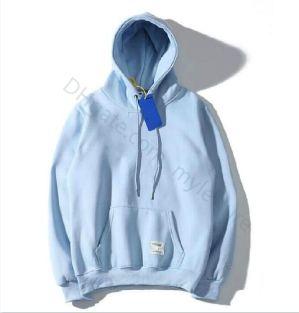 Nova moda Hoodie Homens Mulheres Sweater Sweater Sweater Size S-2XL 10 Cor Mistura de Algodão Espessura Designer Hoodie Pullover Manga Longa Streetwear