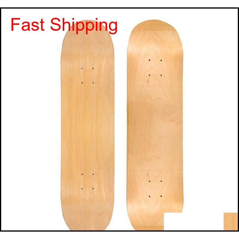 31x8 inch skateboard deck 7 layers wood maple double concave skate board longboard double rocker no printing diy part blank board