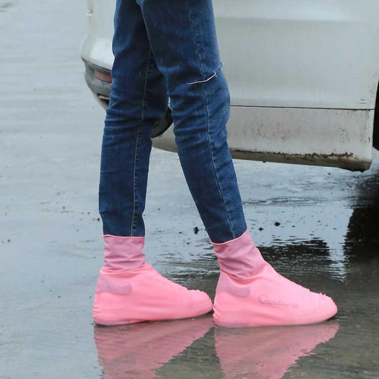 LATEX водонепроницаемый дождь под дождепроизводительным обуви дождевой обуви одноразовые не скользящие резиновые дождь ботинки крышки обуви аксессуары T3I51548