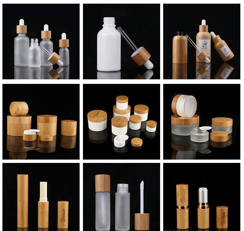 bamboo cap frosted glass dropper bottle liquid reagent pipette bottles eye dropper aromatherapy essential oils perfumes bottles