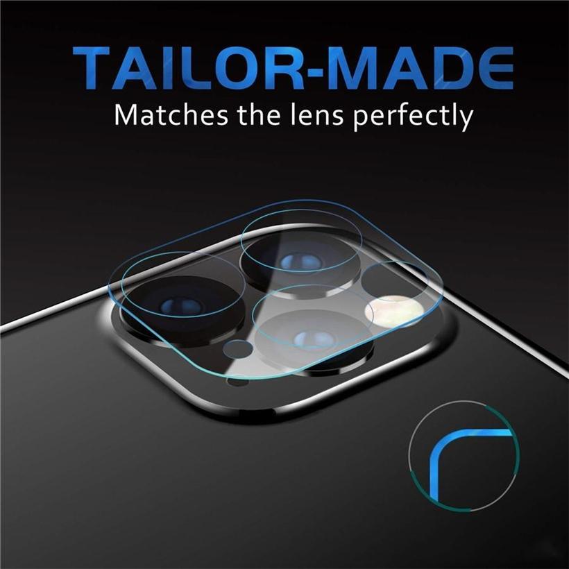 Telefon Mercek Ekran Koruyucu iphone 12 için Mini Pro MAX 11 Arka Kılıf 3D Şeffaf Çizilmeye Dayanıklı Geri Kamera Temperli Cam Film Kapak
