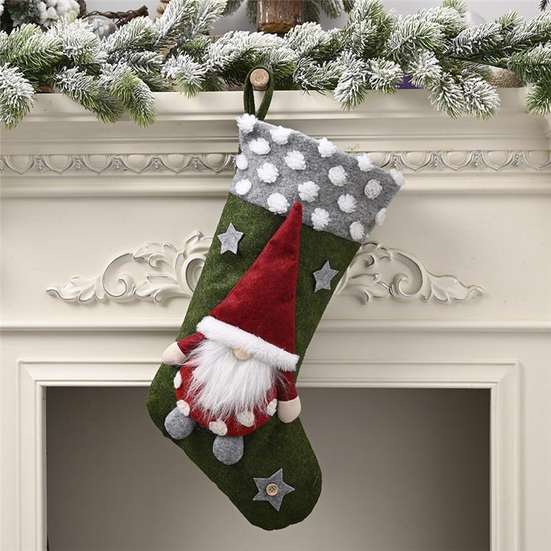 أفخم عيد الميلاد الجورب هدية حقائب كبيرة الحجم مشبك حقيبة كاندي Xams الديكور شجرة الجوارب زخرفة عيد الميلاد هدية التفاف T1I2857