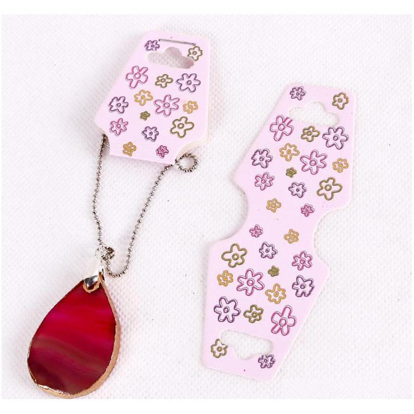 3.8x9.5cm/5x12.5cm colorful necklace/bracelet display folding card necklace cards packaging label tag jewelry hang tag
