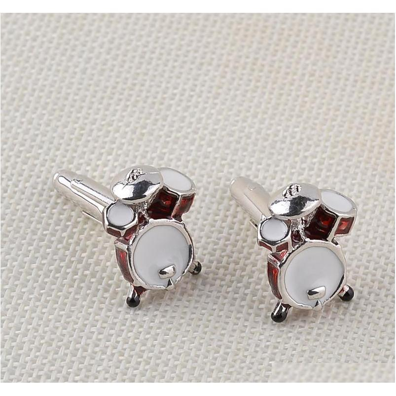 men jewelry music lover drum guitar cufflinks for men shirt accessory fashion metal music design cuff links