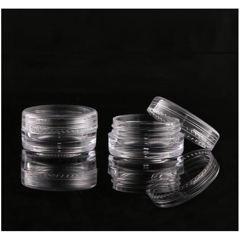 plastic 3ml cosmetic jar empty eyeshadow case face cream bottles glitter container eye shadow empty nail pots beauty tool bh3647 dbc