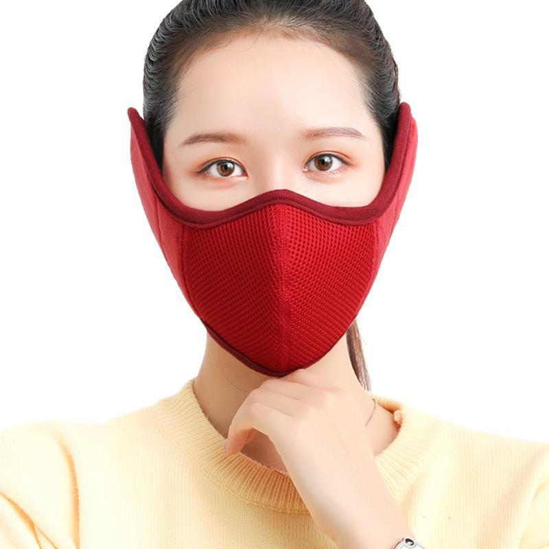 Тепловая маска для ушных наушников уха защитная лицевая маска для лица мужчины женщины дышащие зима наружные уха более теплые ранс дизайнерская маска 60 шт. T1i2717