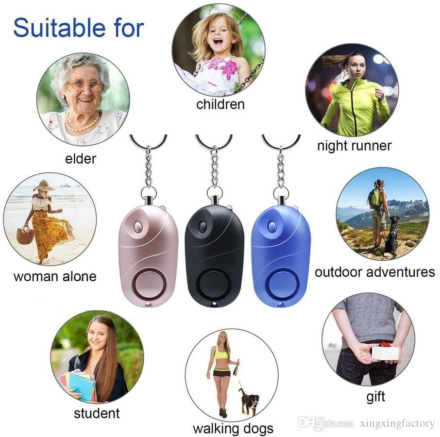 Personal Alarms Bell Tama Loud Safe Stable 130 Decibels Mini Portable Keychain Alarm for Girl Women Old man
