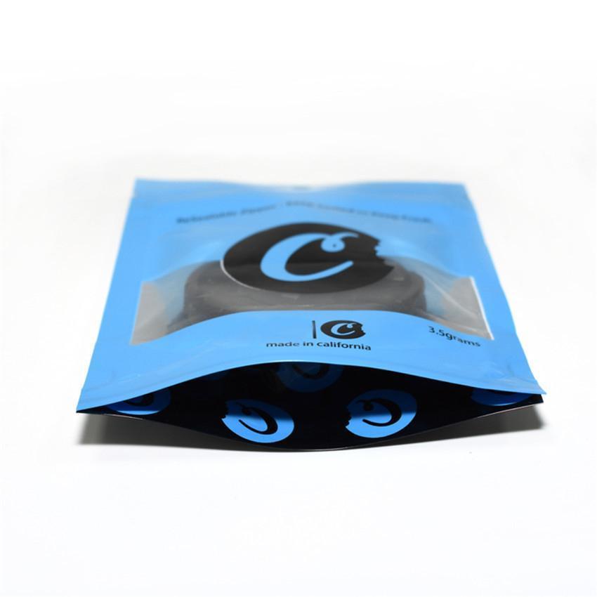 Cookies Mylar Bags California SF 8-й съедобный 420 сухой трава цветок упаковка красное синее печенье 3.5 узорят запах пластиковые миларные пакеты