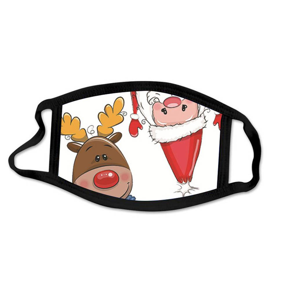 أزياء عيد الميلاد الوجه أقنعة مطبوعة عيد الميلاد قناع مكافحة الغبار الضباب ندفة الثلج الفم غطاء للتنفس قابل للغسل قابلة لإعادة الاستخدام الكبار البوليستر القطن سريعة