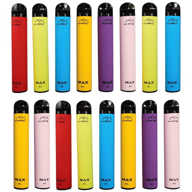 Hyppe Max vaporizador desechable cartucho desechable Packaging 1500 bocanadas Pod dispositivo con código de seguridad 5 ml de Vape pluma Vacíe